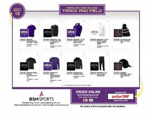 track apparel order form