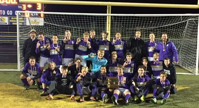 Boys Soccer beat Lexington 3-2 for District Championship!!