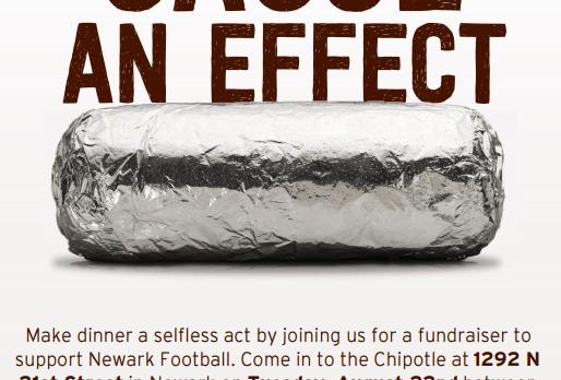 Newark Football-Chipotle Fundraiser-8/22