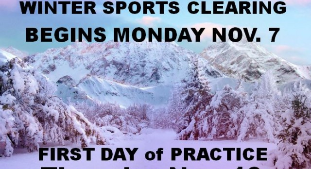 Winter Sports are Coming!