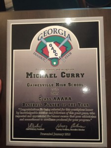 Michael Curry Player of the Year 2015