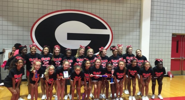 Gainesville Middle School Cheer Squad Awards