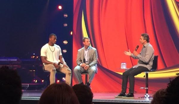 Deshawn Watson and Coach Swinney At FCA In Gainesville This Morning