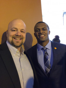 AD Billy Kirk and Deshawn Watson at the Home Depot College Football Awards Show 2016