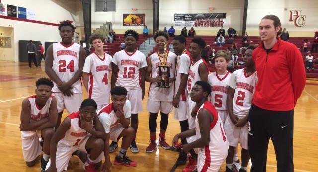Congratulations Gainesville 8th Grade Boys Basketball