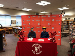 Josh Harrison and Kamden Young signing NLI