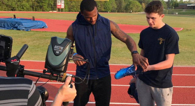 Deshaun Watson At Gainesville Football Field for ESPN Shoot