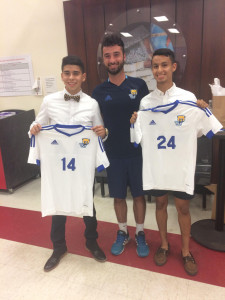 Soccer players sign Letter of Intent