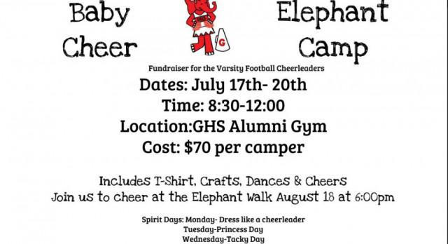 Baby Elephant Cheer Camp