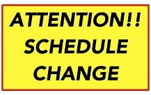 Schedule change1