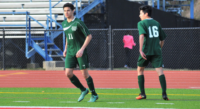 Wakefield High School Boys Junior Varsity Soccer beat West Potomac High School 2-1