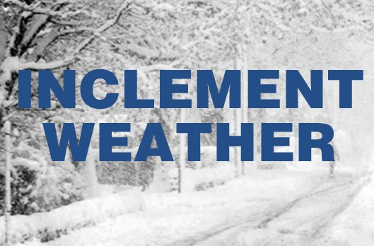 Several Cancellations Due to Inclement Weather