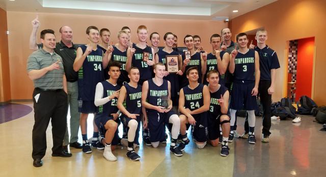 Timpanogos High School Boys Varsity Basketball beat Maranatha, CA 57-46