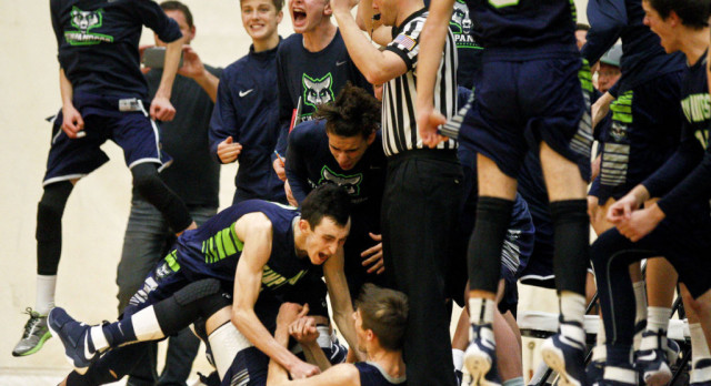 Timpanogos High School Boys Varsity Basketball beat Mountain View High School 61-57