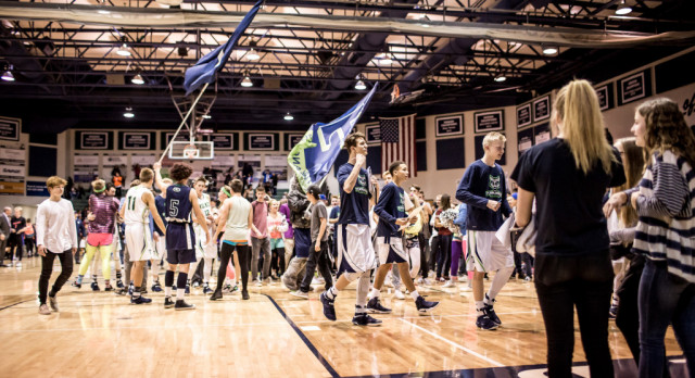 Timpanogos High School Boys Varsity Basketball beat Timpview High School 60-59