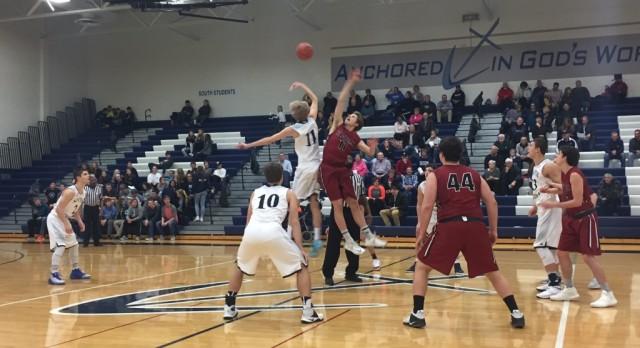 Forest Hills Eastern High School Boys Varsity Basketball falls to South Christian High School 49-41