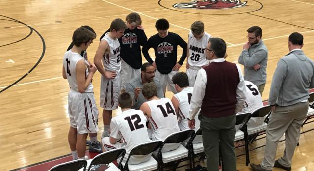 Forest Hills Eastern High School Boys Varsity Basketball beat East Grand Rapids High School 61-58