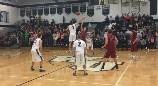 Forest Hills Eastern High School Boys Varsity Basketball falls to Wayland Union High School 86-71