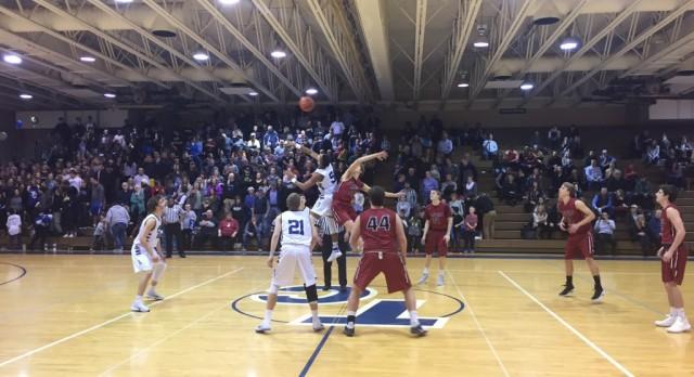 Forest Hills Eastern High School Boys Varsity Basketball falls to Tri Unity Christian 62-37