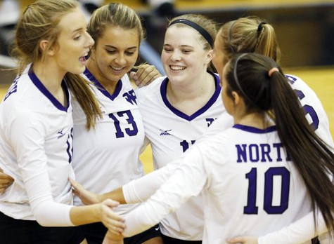 Volleyball: North rises to top of area with win over Lambert