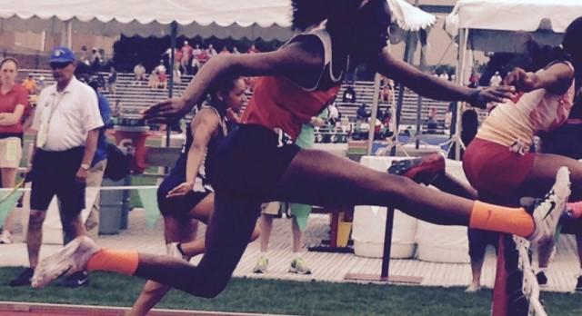 Jasmine Harris repeats as State Champion in 300m Hurdles