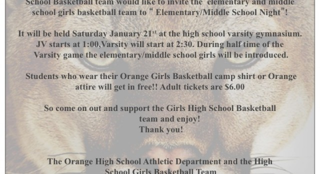 MHS & BMS Come To A Girls Basketball Game