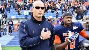 Former Lion Will Carter pictured next to Head Coach Joe Susan- Photo Credits Marc Hagemeier & Bucknell Athletics
