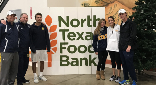First Serve- HP Tennis Donates 3100 pounds of canned food to NTFB