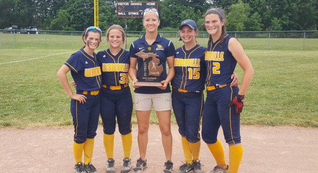 Aggies lead Webberville softball to District Championship!