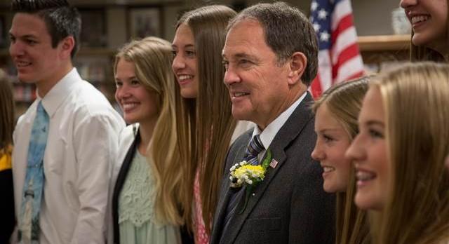 Utah Gov. Herbert visits Roy High