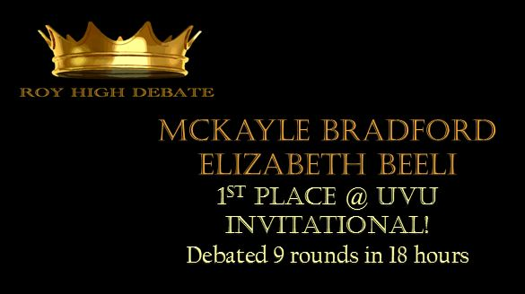 Debate takes 1st Place