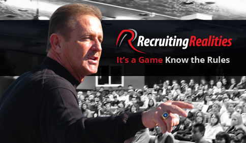 """""""The Realities of College Athletic Recruiting""""  Free Seminar – October 8 @ 7 pm"""