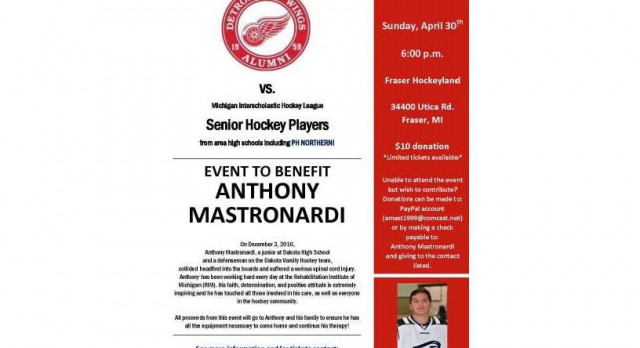 BENEFIT GAME:  RED WING ALUMNI vs MIHL SENIOR HIGH SCHOOL PLAYERS