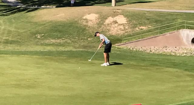 Cabot Fowler in State Golf Match