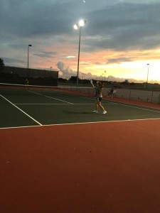 Tennis Match at Terry