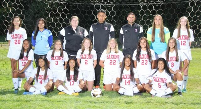 Saxon Girls JV Soccer Finish the Season 14-0