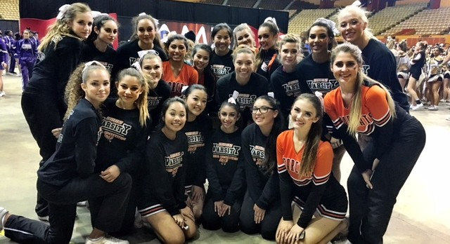 San Mateo High Spirit Squad first competition