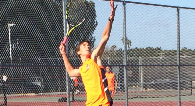 San Mateo High School Boys Varsity Tennis beat Hillsdale High School 7-0