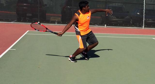 San Mateo High School Boys Varsity Tennis beat Burlingame High School 6-1