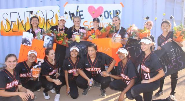 San Mateo High School Varsity Softball beat SSF 7-1