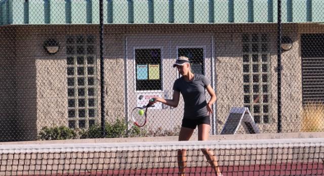 San Mateo High School Girls Varsity Tennis beat Burlingame High School 7-0