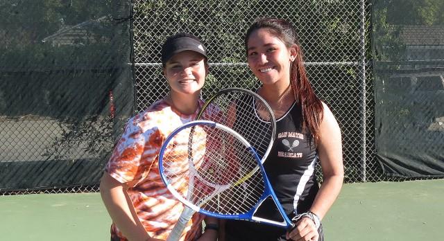 San Mateo High School Girls Varsity Tennis beat Woodside High School 7-0