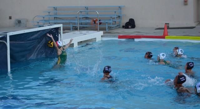 San Mateo High School Girls Varsity Water Polo beat Capuchino High School 16-5