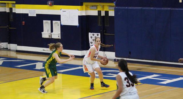 San Mateo High School Girls Varsity Basketball falls to Leigh High School 51-42