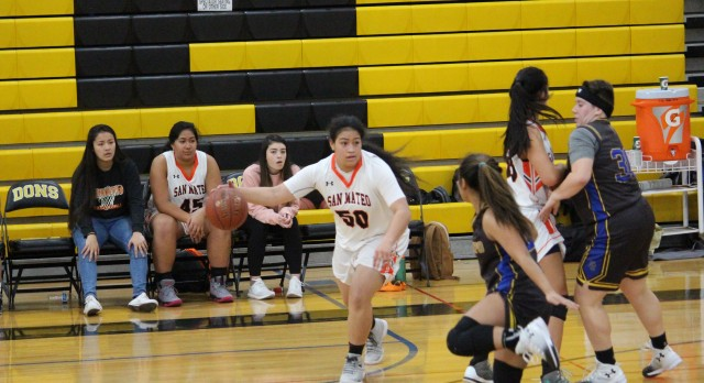 San Mateo High School Girls Varsity Basketball falls to Del Campo High School 44-39
