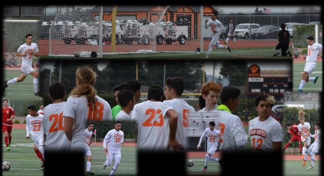 San Mateo High School Boys Varsity Soccer beat El Camino High School 2-1