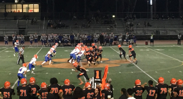 San Mateo High School Varsity Football beat Santa Teresa High School 21-7