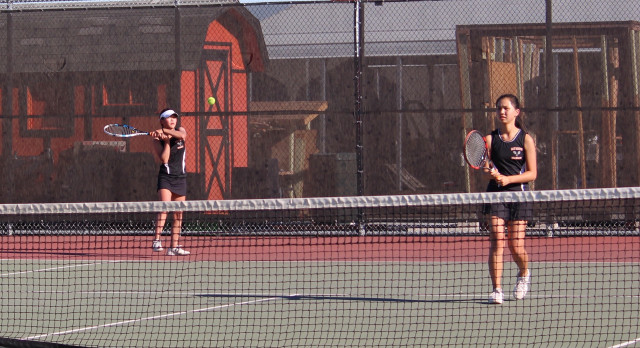 San Mateo High School Girls Varsity Tennis falls to Menlo-Atherton Athletics 6-1