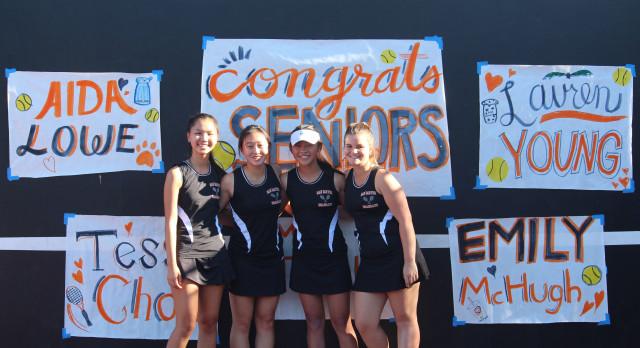 San Mateo High School Girls Varsity Tennis beat Mills High School 6-1