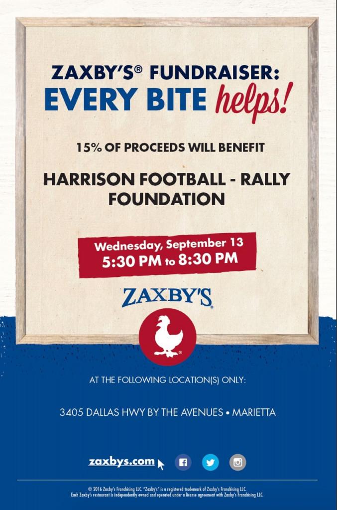 Zaxbys Rally Week Fundraiser